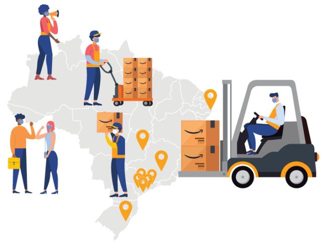 Amazon tem 9 centros de distribuição no Brasil