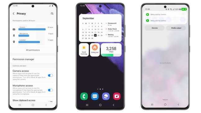 One UI 4 Beta com Android 12 no Galaxy S21