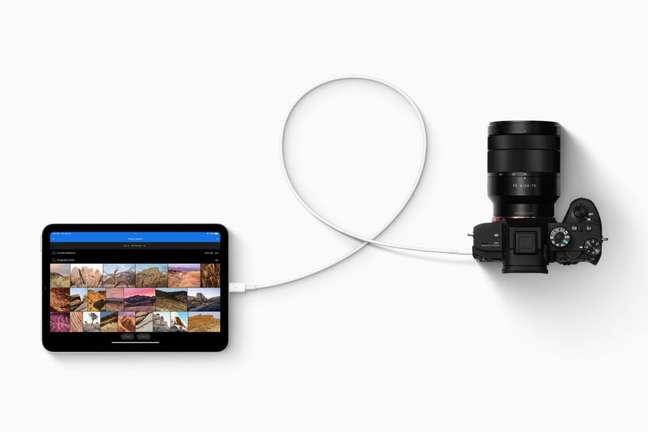 Porta USB-C do iPad Mini favorece conectividade com acessórios