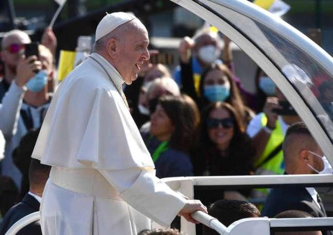 Papa Francisco durante visita à Eslováquia