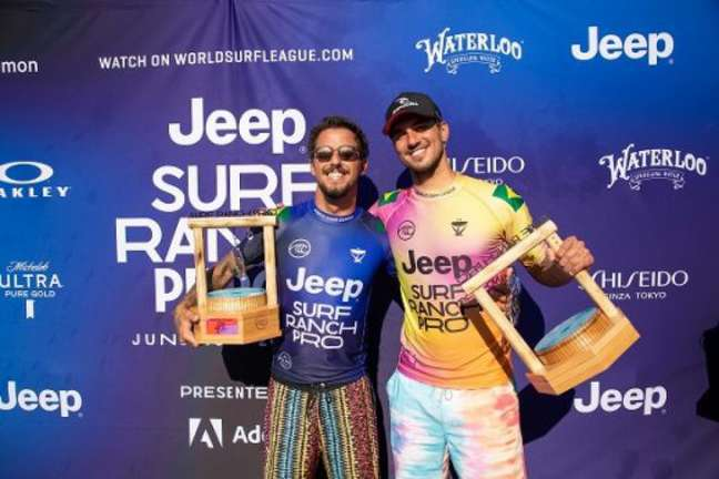 Filipe Toledo e Gabriel Medina disputaram a final (Foto: Divulgação)