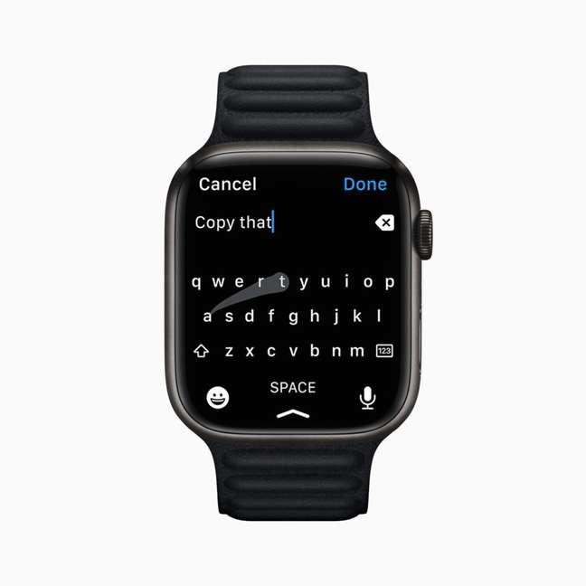 Teclado no Apple Watch Series 7