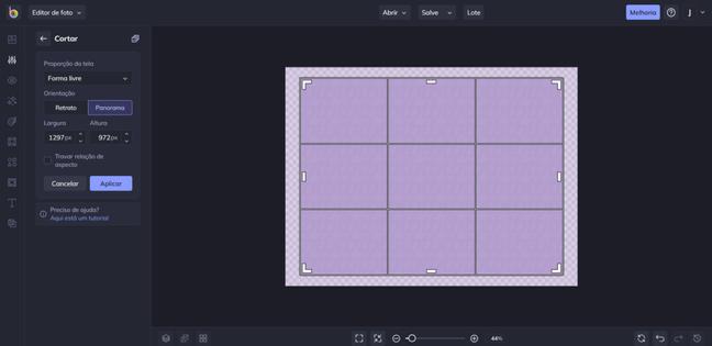 Interface do Befunky no computador. (Reprodução/Befunky)