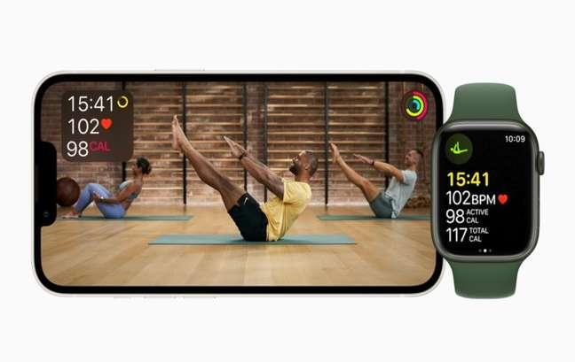 Apple Fitness+ no iPhone e Apple Watch