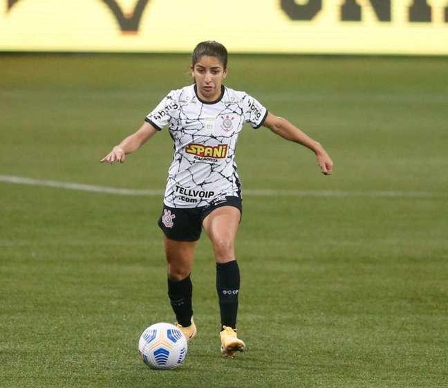Katiuscia atuou durante os 90 minutos da vitória contra o Palmeiras (Foto: Fernando Roberto/Agência Futpress)