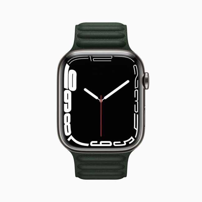 Novo visor do Apple Watch Series 7 com números nas bordas