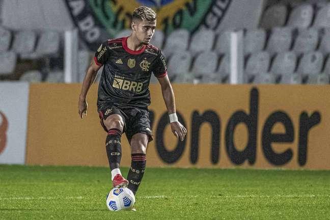 Andreas Pereira fez um gol na vitória do Flamengo sobre o Santos (Alexandre Vidal/Flamengo)