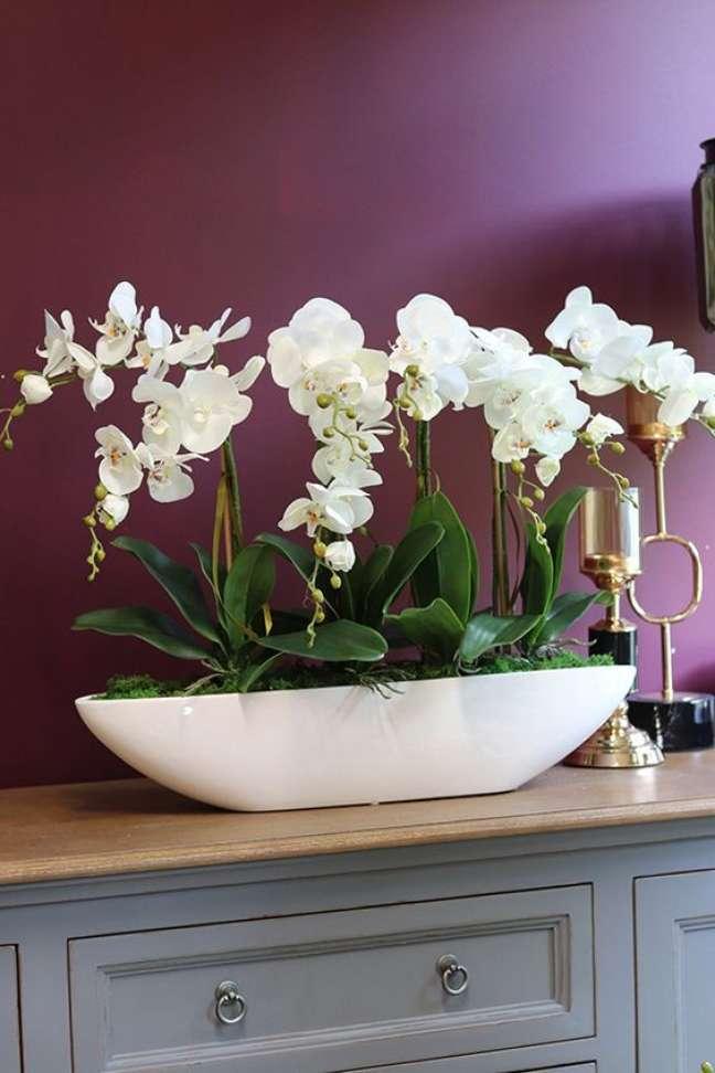 3. Vaso de flor grande para sala clássica – Foto Floreira Todo Verde