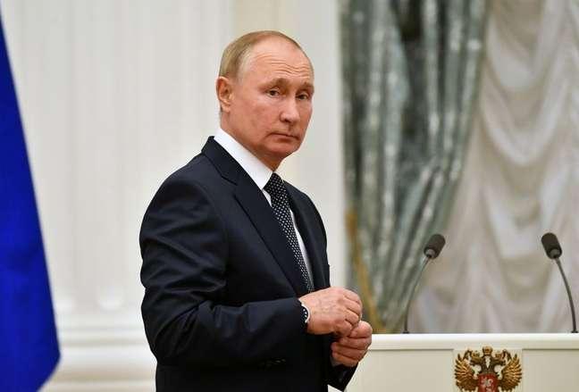 Presidente da Rússia, Vladimir Putin, em Moscou 11/09/2021 Sputnik/Evgeny Biyatov/Kremlin via REUTERS