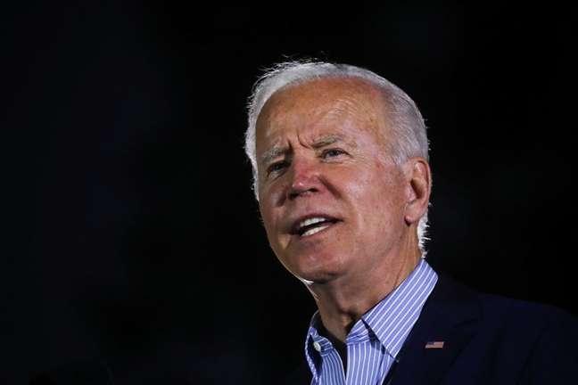 Presidente dos EUA, Joe Biden, discursa durante comício contra revogação de mandato do governador da Califórnia em Long Beach 13/09/2021 REUTERS/Leah Millis
