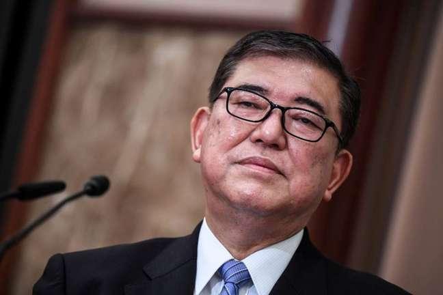 Shigeru Ishiba durante debate em Tóquio 12/09/2020 Charly Triballeau/Pool via REUTERS