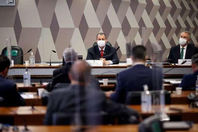 Senadores prticipam de reunião da CPI da Covid REUTERS/Adriano Machado