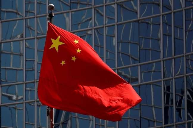 Bandeira da China. 29/4/2020. REUTERS/Thomas Peter
