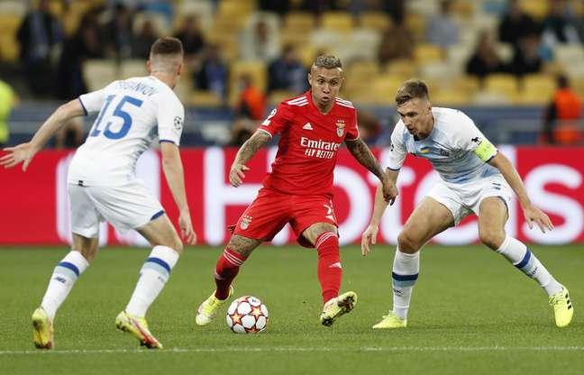 Benfica e Dinamo de Kiev ficaram no empate por 0 a 0 na estreia pela Liga dos Campeões