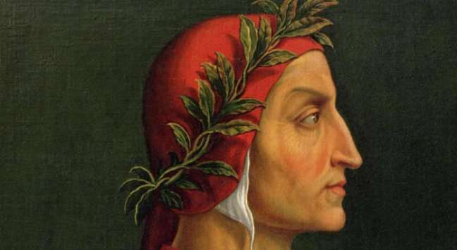 Retrato de Dante Alighieri, o 'sumo poeta' italiano