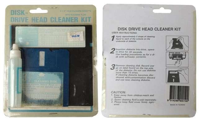 Kit de limpeza para disquetes