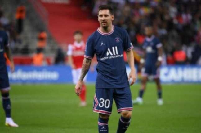 Messi em jogo pelo PSG (Foto: FRANCK FIFE / AFP)
