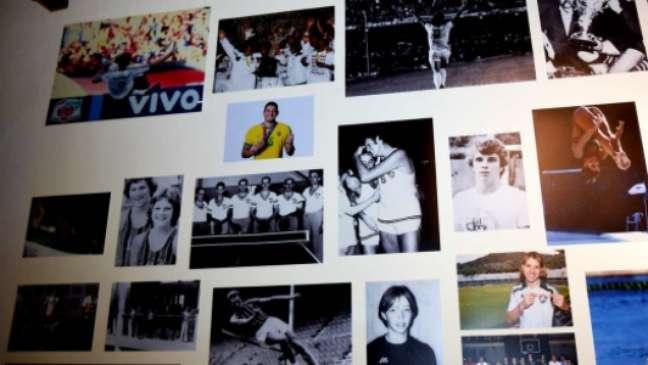 Foto de Nino entrou em painel da sala de troféus (Foto: Mailson Santana/Fluminense FC)