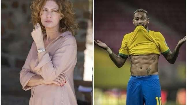 Patrícia Pillar criticou Neymar após Brasil x Peru (Montagem LANCE!)