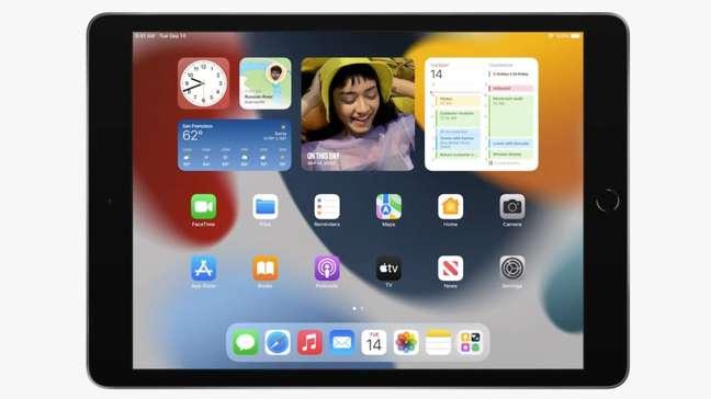 iPad de 9ª geração com iPadOS 15