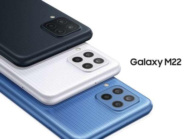 Samsung Galaxy M22 possui câmera quádrupla de 48 megapixels