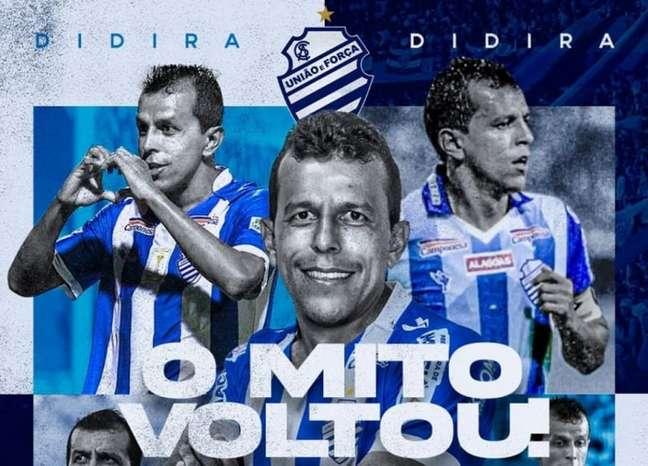 Jogador acumulou quase 150 partidas na primeira passagem pelo Azulão (Divulgação/CSA)