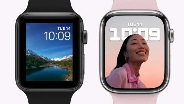 Modo retrato como mostrador no Apple Watch