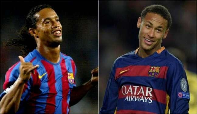 Com Ronaldinho Gaúcho e Neymar, o Barcelona conquistou uma Liga dos Campeões com cada brasileiro (Foto: AFP; AFP)