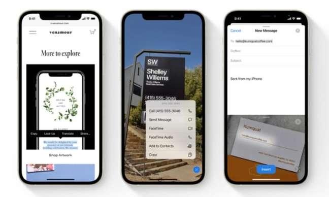 Reconhecimento de texto no iOS 15