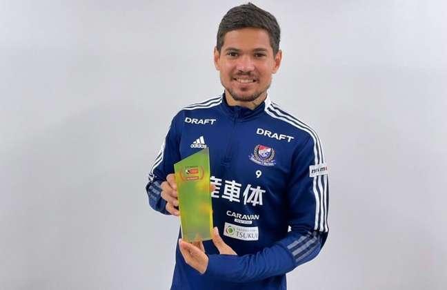 Léo Ceará ganhou o prêmio de melhor jogador do mês no Campeonato Japonês (Foto: Divulgação)