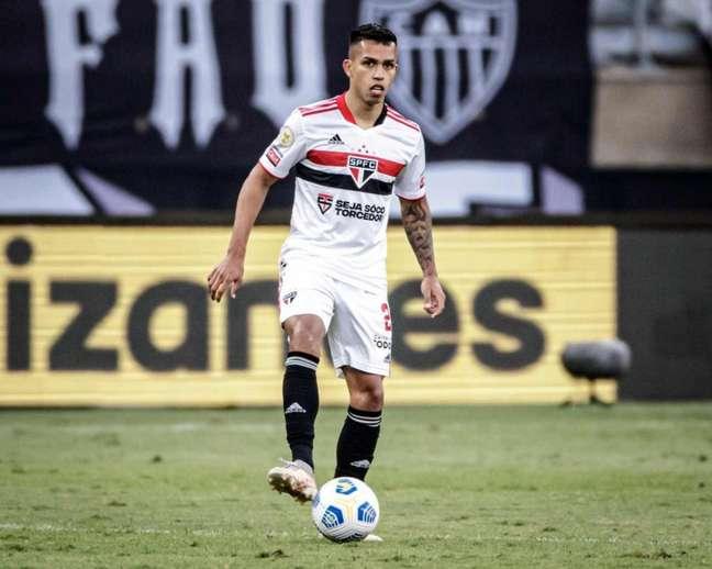 Igor Vinícius está perto do jogo de número 100 pelo São Paulo (Foto: Rubens Chiri/São Paulo FC)