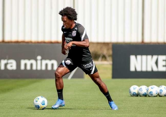 Willian está de volta ao Timão depois de 14 anos e deve estrear contra o Coelho (Foto: Rodrigo Coca/Ag. Corinthians)