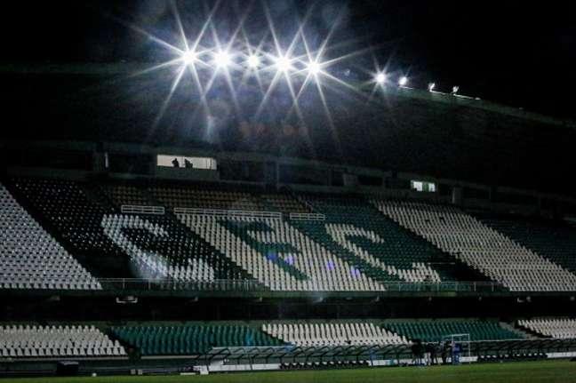 Coxa confia no seu estádio para subir de divisão (Foto: Reprodução/Twitter do Coritiba)
