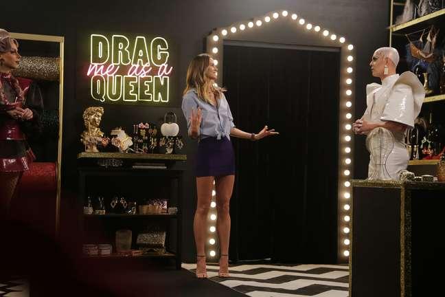 A modelo Renata Kuerten em cena do programa