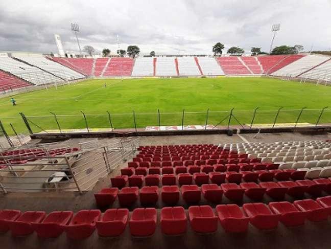 Para o duelo com o Operário-PR, a capacidade de público no estádio será mantida em 30% . Para os jogos seguintes, aumenta para 40%- (Divulgação/Arena do Jacaré)