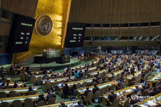 Assembleia Geral das Nações Unidas. 27/10/2015. REUTERS/Lucas Jackson.