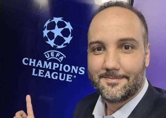 Jorge Iggor é um dos narradores oficiais da TNT Sports nessa Liga dos Campeões (Reprodução / Instagram)