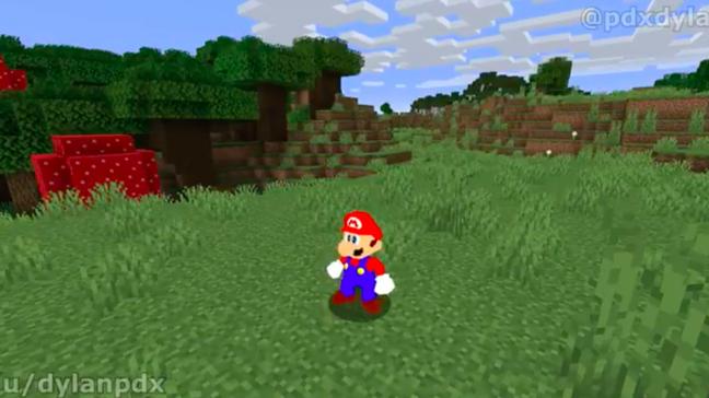 Super Mario 64 agora está em Minecraft