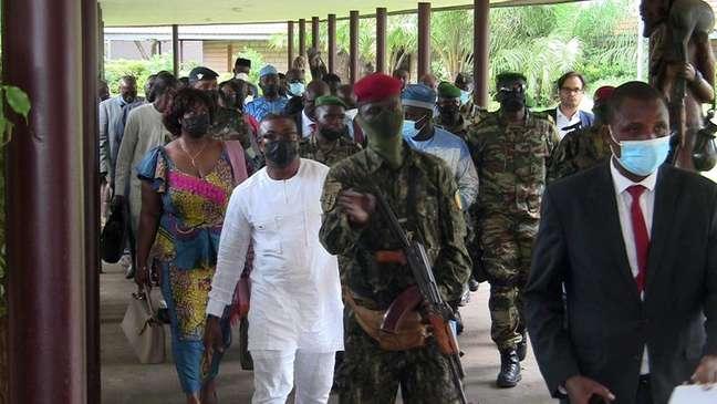 Diplomatas de países da África Ocidental se reúnem em Conakry, na Guiné 15/09/2021 REUTERS/Saliou Samb