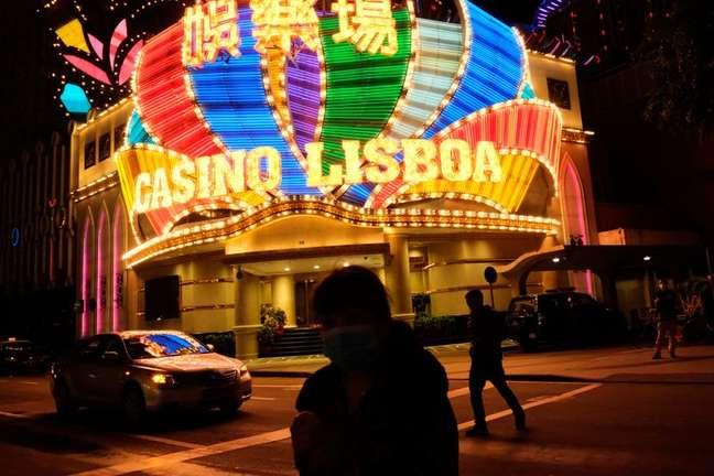 Vista externa de cassino em Macau. 4/2/2020. REUTERS/Tyrone Siu