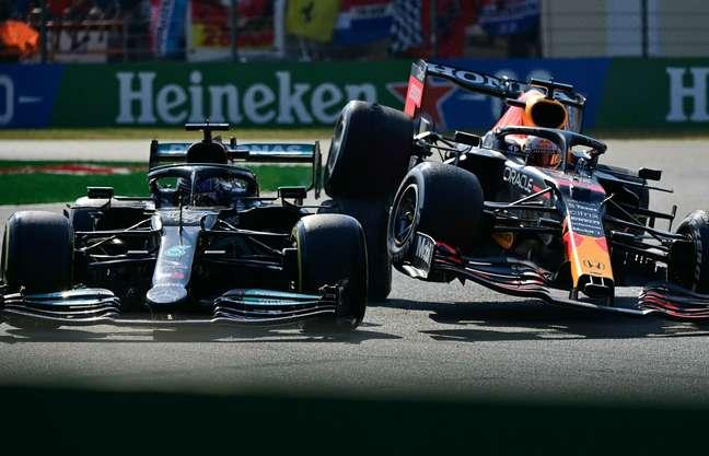 O incidente entre Hamilton e Verstappen no GP da Itália foi o segundo de 2021