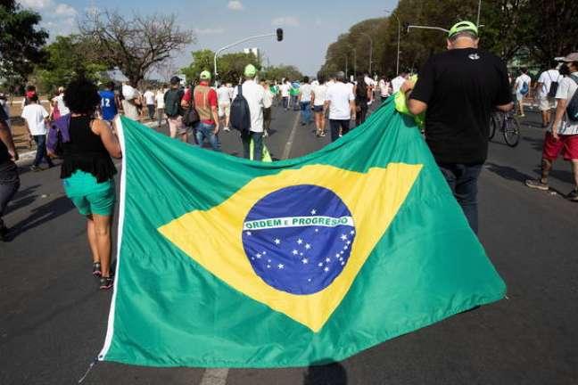 Protesto a favor de Bolsonaro no feriado de 7 de setembro