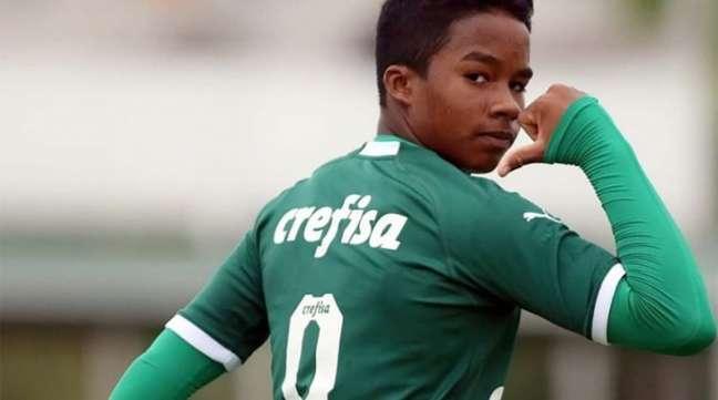 Endrick marcou 70 gols em 2019 nas categorias de base alviverdes (Foto: Divulgação/Palmeiras)