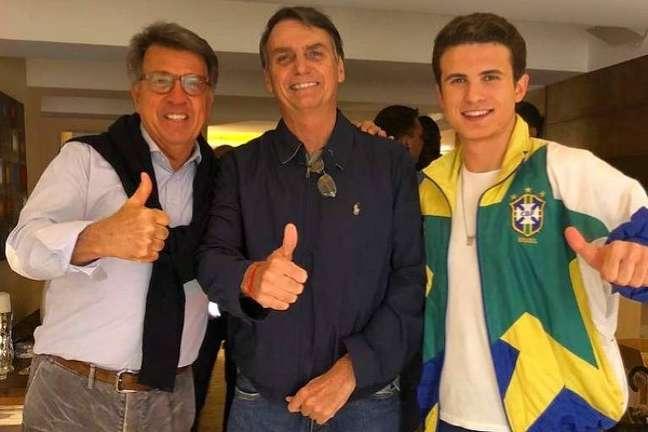 André e o pai, Paulo Marinho, em outubro de 2018, quando eram grandes aliados de Bolsonaro