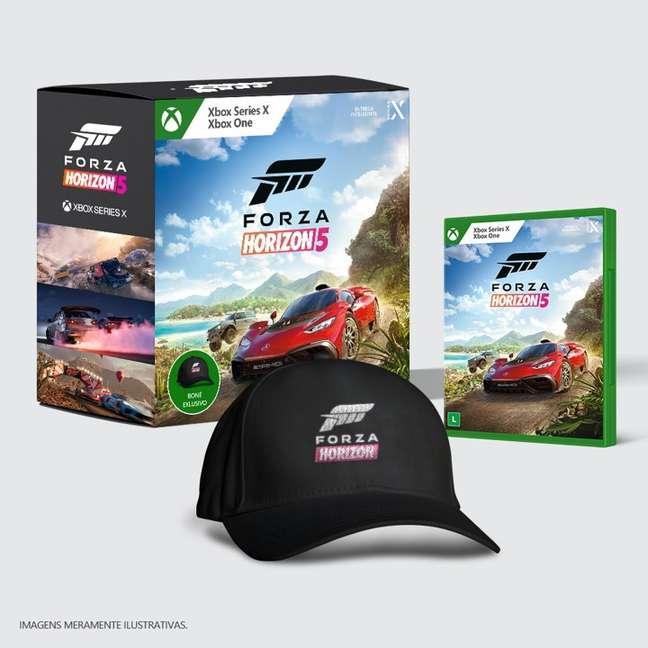 Edição brasileira de Forza Horizon 5 inclui boné do jogo