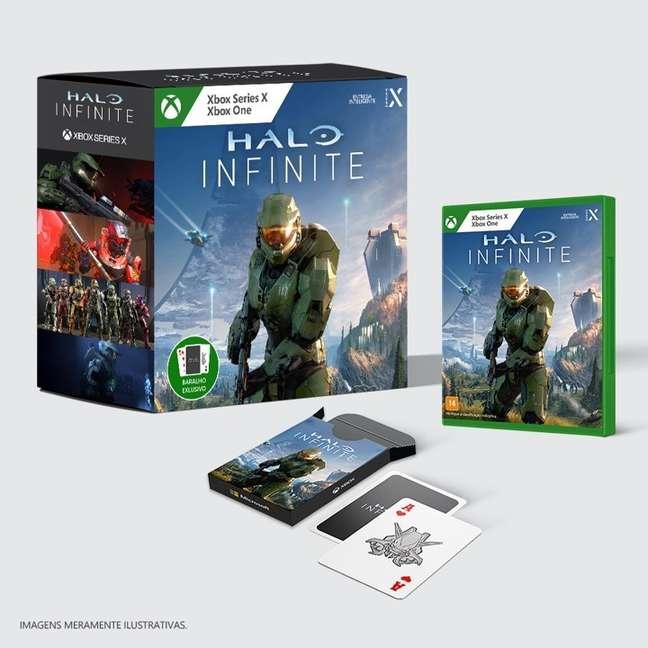 Edição brasileira de Halo Infinite tem baralho temático
