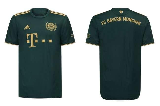 Nova camisa do Bayern de Munique será verde com detalhes em dourado (Foto: Divulgação)