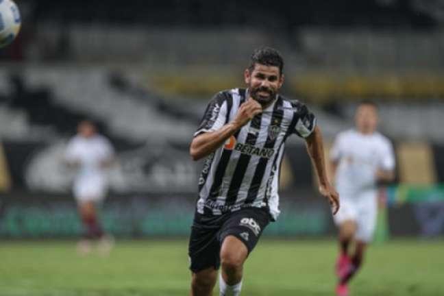 Diego entrou no segundo tempo, teve boa movimentação e quase marcou para o time mineiro-(Pedro Souza/Atlético-MG)