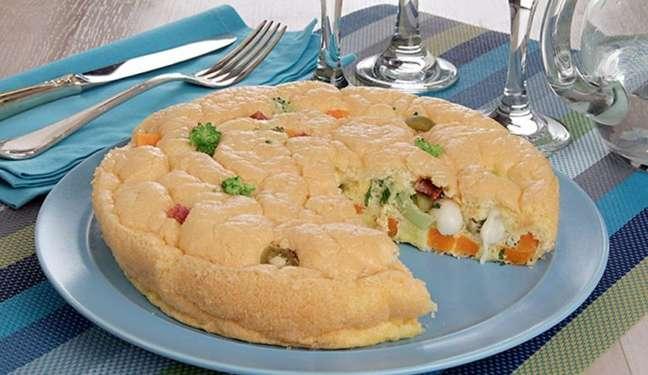 Guia da Cozinha - Fritada de legumes com queijo pronta em 30 minutos
