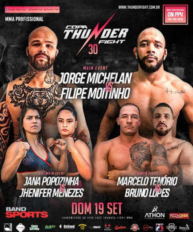 Card do Thunder Fight 30 será realizado no próximo domingo (Foto: Divulgação)